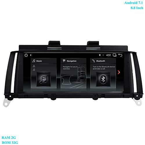XISEDO 8.8 Pouces Écran 4-Core Android 7.1 Autoradio RAM 2GB ROM 32GB Car Radio Système de Navigation GPS pour BMW X3 F25(2013-2016)/ BMW X4 F26(2013-2016) Système NBT Original