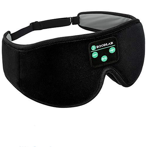 Mascarilla para Dormir Inalámbrico - Navly Copa Contorneada 3D con los Ojos Vendados, Auriculares para Dormir para Traviesas Laterales con Altavoces Estéreo Ultradelgados HD,Máscara para Viaje
