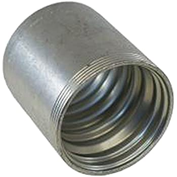1.44 GS Ferrule for 4 Spiral Hose Zinc Plated Carbon Steel 1.44 1//2 ID 1//2 ID Pack of 200 Gates 8GS1F-4XBULK GlobalSpiral Couplings Pack of 200