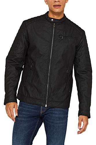 ESPRIT Herren 099EE2G009 Jacke, Schwarz (Black 001), Medium (Herstellergröße: M)