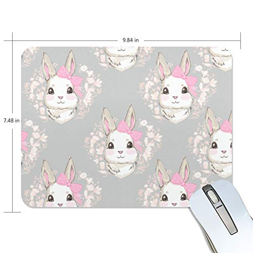 playroom Game Mouse pad Design Cute Rabbit Pink Bow Extended Ergonomic for Computers Mouse mat Custom-Made