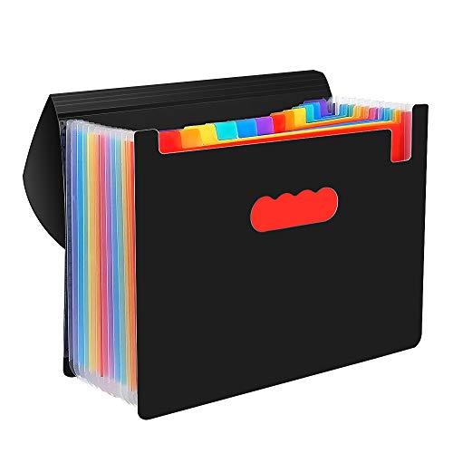 CNASA A4 Porta Documenti Per Scrivania Ufficio 12 Tasche Perfetta per Casa Scuola e Ufficio Della Società
