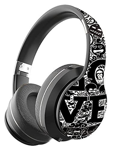 VBTY SHDZCP - Auriculares inalámbricos con cable Bluetooth con micrófono estéreo para juegos (color: negro B1 con bolsa)