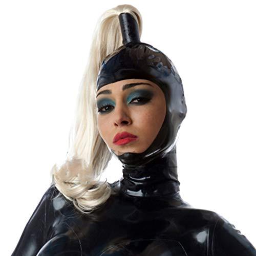 ZYAM SM Latex m-ḁṤ-kè Full Head Porno Restriktions Bondage m-ḁṤ-kè, enthält Perücke Kopfbedeckung, für Cosplay/Folter/Fetisch/Sklave/Halloween