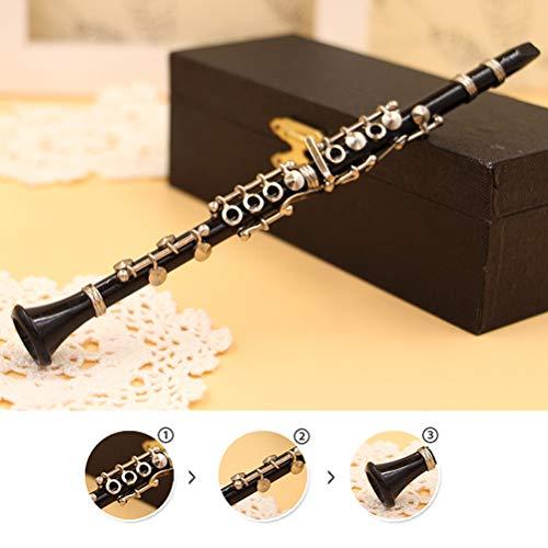 1/8 Escala Modelo de Clarinete Instrumento Musical Miniatura Decoración de Escritorio Pantalla Amante de la música Regalo de cumpleaños para Adornos de Escritorio Decoración de Fiesta