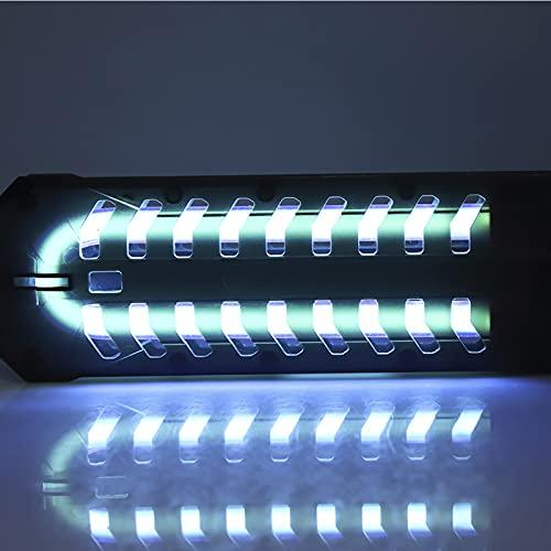 HEEPDD Luz Ultravioleta para Acuario, esterilizador para Estanque, pecera, esterilización germicida Limpia, lámpara Impermeable, Temporizador para Acuario, luz Ultravioleta(Enchufe de la UE 18W)