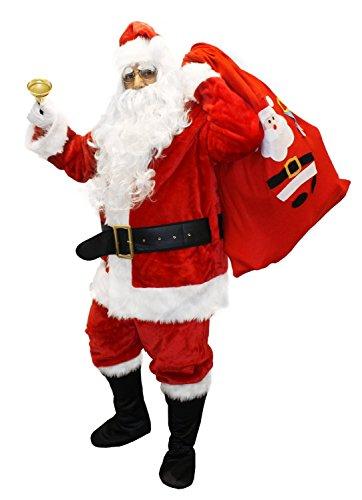 I LOVE FANCY DRESS LTD Ilovefancydress - Costume de Père Noël 12 pièces de Luxe avec Accessoires - qualité Professionnelle