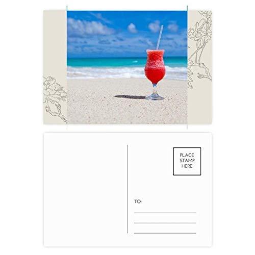 DIYthinker Ocean Sand Beach Watermeloen Sap Foto Bloem Postkaart Set Thanks Card Mailing Side 20 stks 5.7 inch x 3.8 inch Multi kleuren