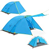 KAZOO Outdoor Camping Tent Durable Waterproof, Family Large Tents 2/4 Person, Easy Setup Tent with Porch Double Layer