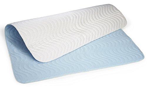 Carevitex 2014 wasserdichte, waschbare Matratzenschutz Auflage 75x90cm saugfähige Inkontinenz - Bettschutzeinlage, atmungsaktive Matratzenauflage trocknergeeignet