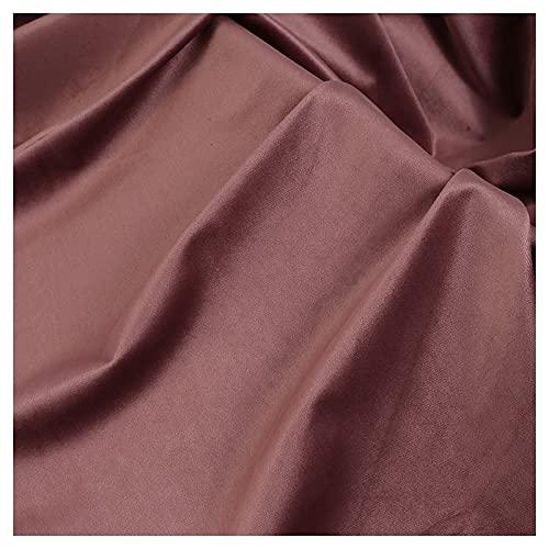 ZSYGFS 150 Cm De Ancho Tela De Terciopelo por Metros para Tapizar Disfraz Decoracin del Hogar Cortinas Tapicera Vestido Sillas Vendido por Metro(Color:Polvo de xido)