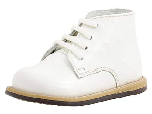 White Leather Baby Boots
