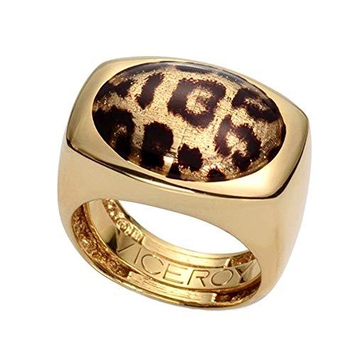 Sortija Viceroy B1041A020-06 metal dorado detalle animal print leopardo