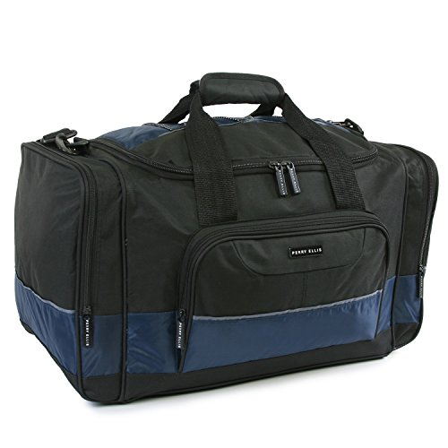 Perry Ellis 22' Business Duffel Bag, Black/Navy