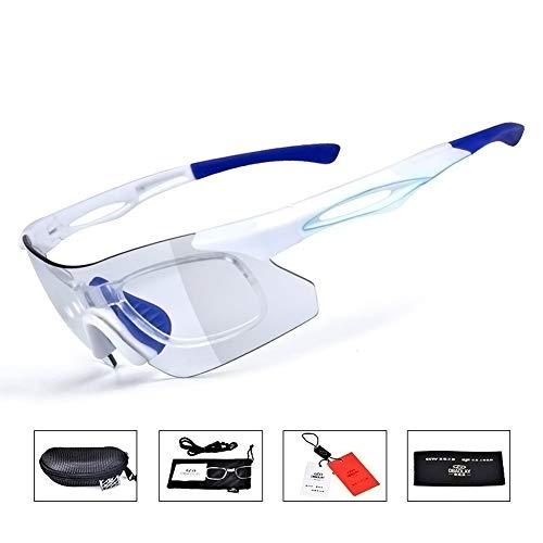 Lesrly-Cycle Gafas de Sol Deportivas fotocromáticas polarizadas para Hombres y Mujeres, Gafas de Ciclismo con Correa Protección antideslumbrante UV400 - para Ciclismo/conducción/Pesca