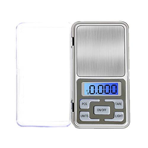 OurLeeme Balance électronique, Balance numérique de poche 0.01-500g Mini balance numérique portable avec rétroéclairage LED pour aliments de cuisine, bijoux, café