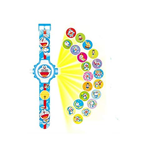 Kinderen kijken XYDBB kinderen horloges projectie cartoon patroon digitale kinderen kijken voor jongens meisjes display klok relogio zoals afgebeeld4 Dola