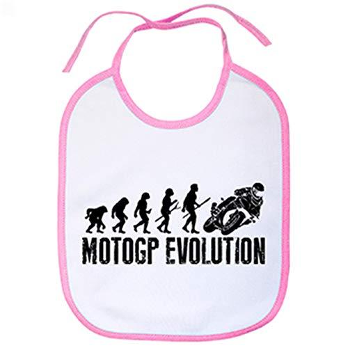Babero ilustración Moto Evolution - Rosa