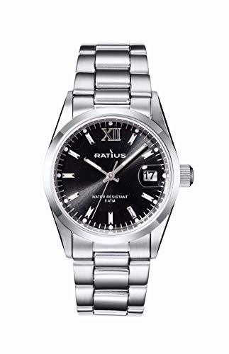 Ratius Damen Uhr 22.50890MS.25 Edelstahl mit Datumsanzeige