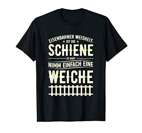Herren Eisenbahner Witz Lokführer Zugführer Zug Bahn Beruf Spruch T-Shirt