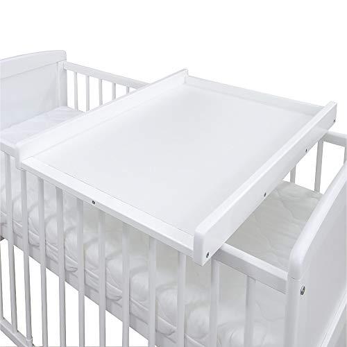 Baby Delux Wickelbrett Wickelaufsatz Wickelplatte für Babybetten 140x70 und 120x60 weiß