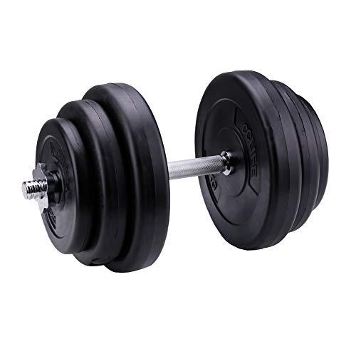 CCLIFE Set d'haltères Courts 20 kg haltères Courts Musculation Disque Musculation
