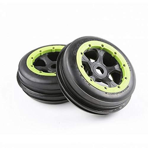 Suading 2Pcs Sand Paddles Desert Wheels Neumáticos para 1/5 Rovan Hpi Baja 5B SS para 1/5 RC Crawler Buggy Truck-Front, Seguro y cómodo