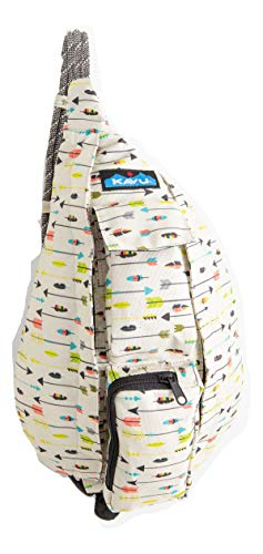 KAVU Mini Rope Sling Bag Polyester Crossbody Backpack - Arrow Dynamic