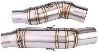 KIMISS 1 par de 51mm Conector de tubo de enlace medio de escape de la motocicleta, Tubo de adaptador de deslizamiento modificado de motocicleta