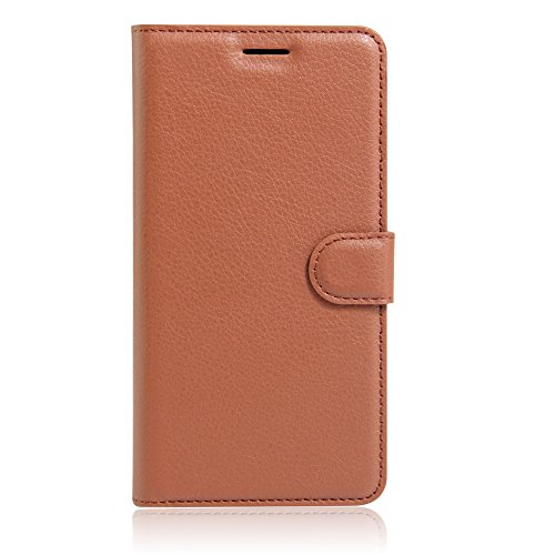 UMI Rome X Case, Mixneer Fashion Wallet Folio Sleeve Magnetic PU Flip Leather Holder Stand Soft TPU Inner Bumper Protective Case Cover for UMI Rome X - Brown