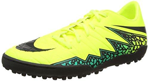 Nike Herren Hypervenom Phelon II TF 749899 703 Fußballschuhe, Gelb (Volt/Black-Hyper Turq-Clear Jade), 43 EU
