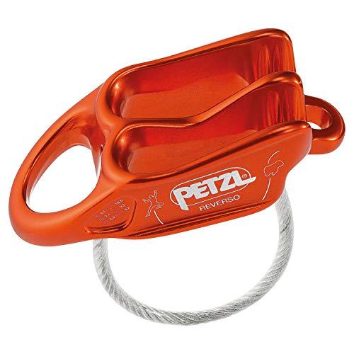 PETZL Assicuratore Reverso Rosso, Unisex Adulto, One Size