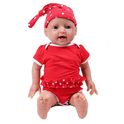 IVITA Ganzkörper-Silikon Reborn Babypuppe realistisch neugeborenes Baby Doll echte Baby Doll handgemachte lebensechte Blaue Augen weiche lebendige Baby Doll Mädchen(WG1508-51cm-3999g-Mädchen)