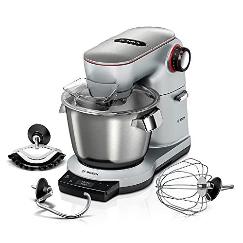 Bosch Elettrodomestici MUM9AX5S00 Planetaria da Cucina con Bilancia Integrata e capacità da 5.5 Litri, 1500 W, Metallo, 8 velocità, Argento