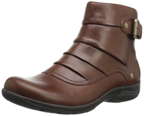 Hot Sale Clarks Women's Christine Club Boot,Brick Leather,7.5 W US