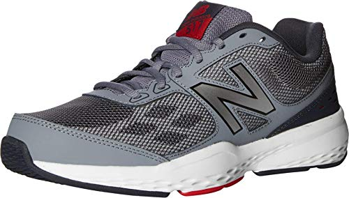 New Balance Men's 517 V1 Cross Trainer, Grey/Red, 11 XW US