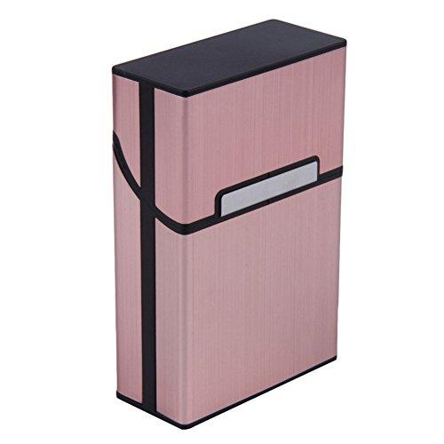 Caja Shot–In, de aluminio, con tama?o de bolsillo para cigarrillos, rojo rosado, talla única-E001