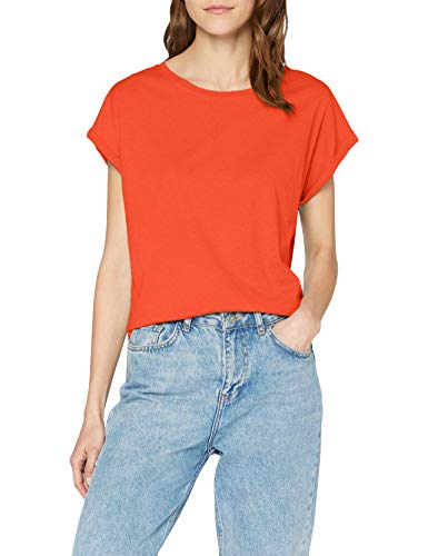 Urban Classics Damen Ladies Extended Shoulder Tee T-Shirt, bloodorange, L