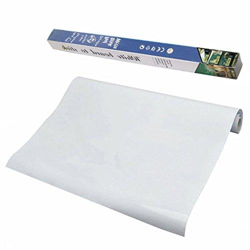 XLKJ Pizarra Blanca Adhesiva de Pared Autoadhesivo 45 x 200 cm para...