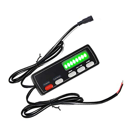 LE-JX NEW Display Screen Controller,control box,Black round connected socket,Fit for: LE-JX 35.5in Traffic Advisor emergency light bar