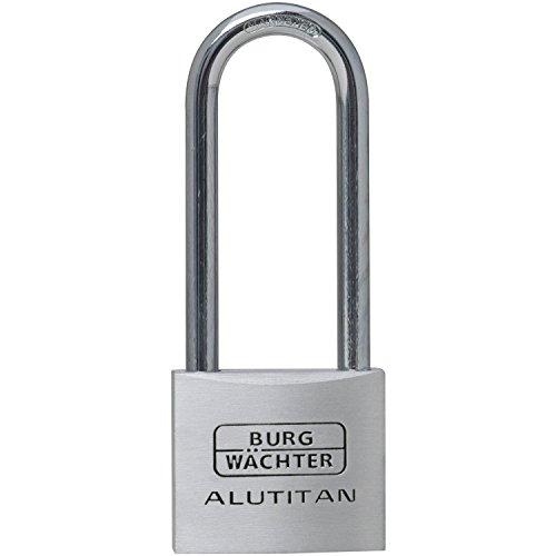BURG-WÄCHTER Vorhängeschloss 770 HB 40 65, Aluminium, 6,5 mm Bügelstärke, 65 mm Bügelhöhe, 2 Schlüssel