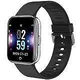 Youth Smart Watch, MBHB Indoor Sport Fitness Tracker, Dynamic Heart Rate Sleep Monitor Wristband for Men Women, Black