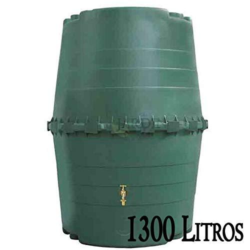 DEPOSITO Polipropileno para AGUA DE LLUVIA 1300 LITROS. Largo 118 cm, Ancho 118 cm, Alto 156 cm. Para recuperación de agua de lluvia en el jardín o en la bodega.