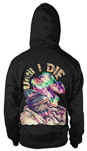 Until i die Kapuzen-Sweatshirt Hoodie Kapu Pullover Weed Cannabis THC Raggae Fun