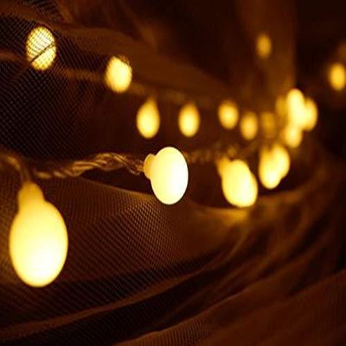 3M 6M 10M Guirnalda de Hadas LED Luces de Cadena de Bolas a Prueba de Agua para árbol de Navidad Boda hogar decoración Interior con Pilas