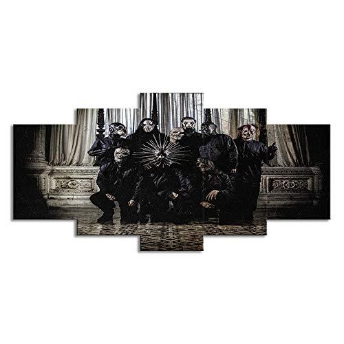 AMOOart Cuadro sobre Lienzo 5 Piezas Wall Art Slip Kv Metal Painting...