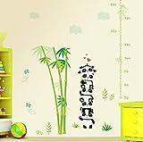 ZBYLL Wall Sticker niedliche Tier Bambus Wachstum Diagramm