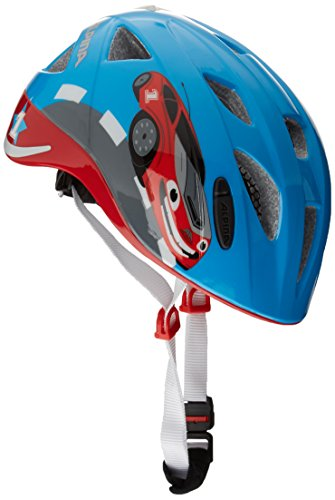 ALPINA Ximo Flash Fahrradhelm, Kinder, red car, 45-49