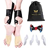 Bunion Corrector Kit for Women and Men Orthopedic Bunion Splint Bunion Relief and Protector Bunion Pads Big Toe Exercise Strap 9 Pieces