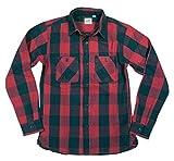 ヒューストン HOUSTON バッファローチェック 長袖 ヘビーネルシャツ 40624 M RED(レッド×ブラック系)